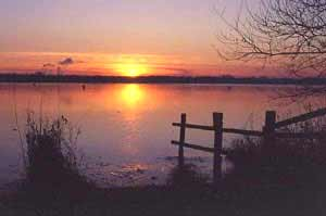 Pennington Flash sunset